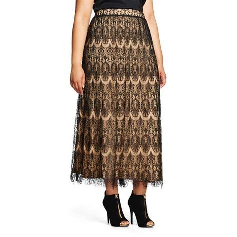 s plus size lace maxi skirt black wd ny black
