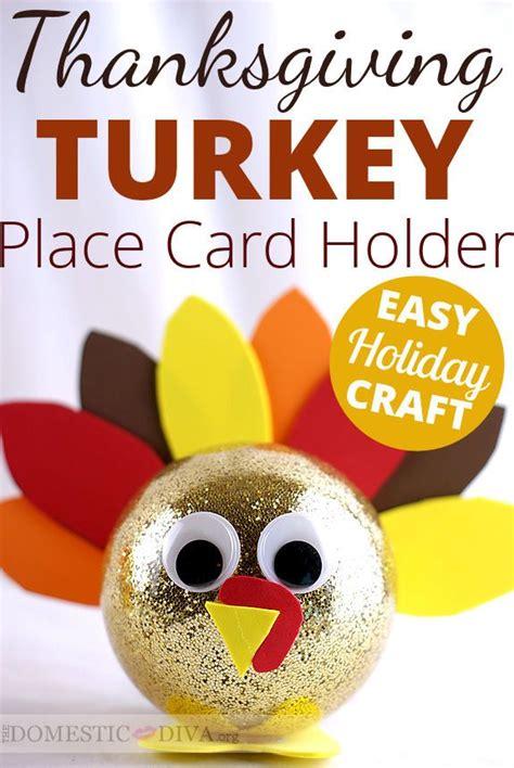 tutorial carding walmart diy tutorial craft a turkey place card holder for your