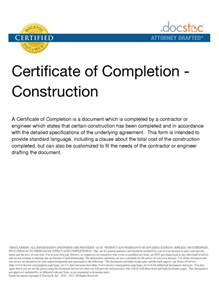 Certification Letter For Completion 6 Best Images Of Construction Project Completion Letter