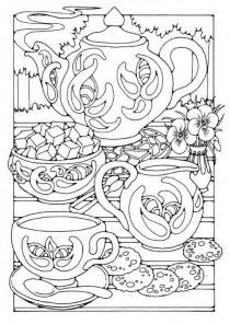 tea coloring pages tea color page tea time