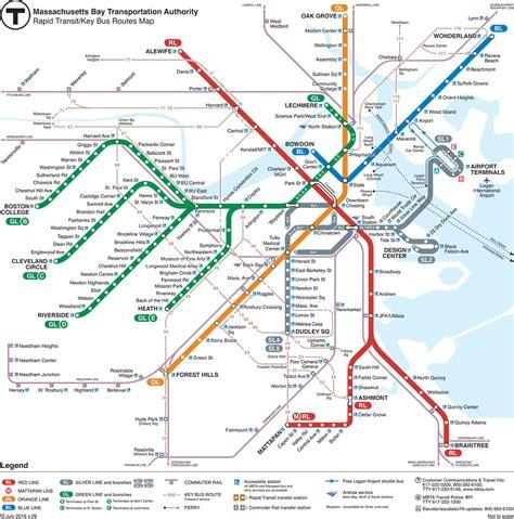 boston mbta map subway metrobabel