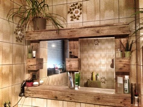 Badezimmer Deko Dawanda by Weiteres Paletten Spiegelschrank Mit Beleuchtung Ein