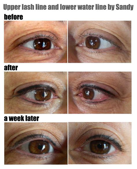 tattoo eyeliner waterline upper lash line and lower waterline semi permanent