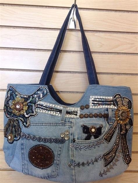 Handmade Bags - recyceld jean denim handbags bags handmade ship from usa