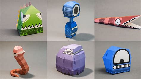 Papercraft Monsters - print and build papercraft monsters