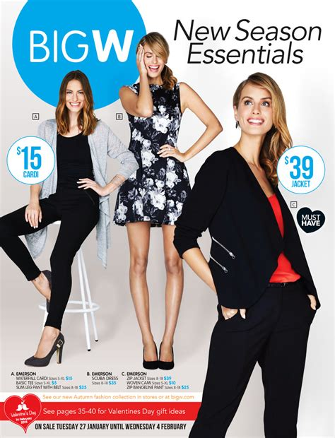 big w catalogue clothing business and february 2015