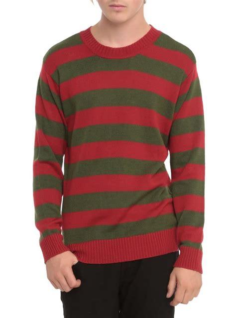 Sweater My Stripe nwt med a nightmare on elm st freddy krueger kknit stripe costume sweater ebay