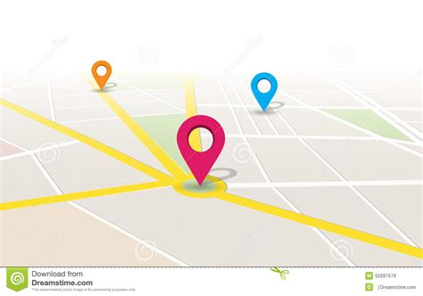 map to location vector map location app stock vector image 52287579