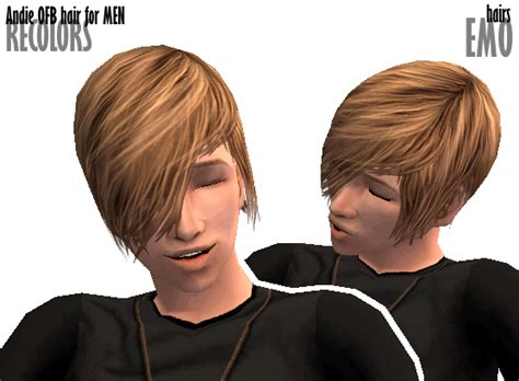 emo boy sims 4 mod the sims emo hairs andie ofb hair for men recolors