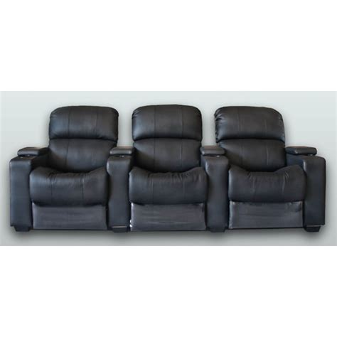 cinema recliner lounge leather 3 seater theatre lounge push back recliner