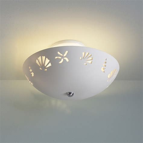 13 5 quot ceramic bowl ceiling light w seashells ceiling