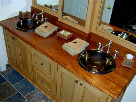 Countertop For Bathroom Vanity Premium Wide Plank Wood Countertops Custom