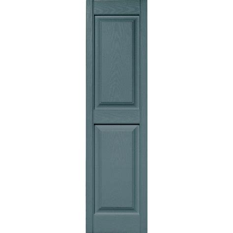 Builders Edge 15 In X 59 In Raised Panel Vinyl Exterior Home Depot Exterior Shutters