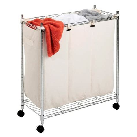 Whitmor 3 Compartment Chrome Laundry Sorter Ikea Decora Compartment Laundry