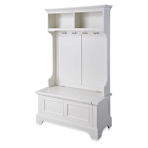 small hall tree storage bench buy home styles naples hall tree and storage bench from