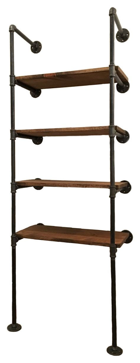 One Room Challenge He Is Not A Little Boy Any More Hey Industrial Wall Shelves