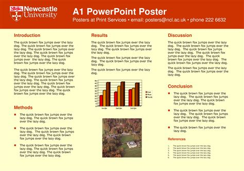 a1 template powerpoint academic poster template a1