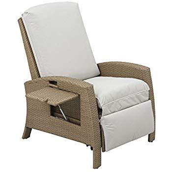 Outdoor Recliner Lounge Chair by Outsunny Rattan Wicker Swivel Rocking Outdoor