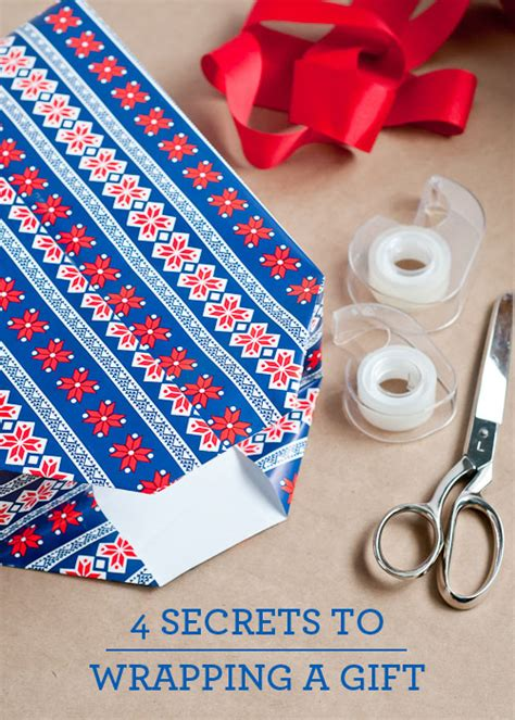 how to wrap a gift in 6 easy steps living well 4 secrets to wrapping a present design mom