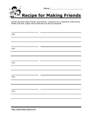 Social Skills Worksheets For Highschool Students by Printable Worksheets For To Help Build Their Social