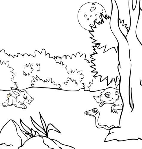 Coloriage Chanson Pour Enfants La Valse Des Loups S Dessin Coloriage De Sanglier Et De CerfL