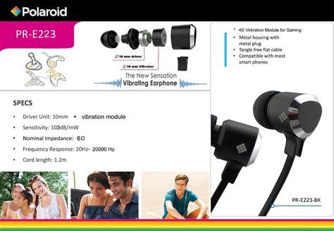 Polaroid H004 Rd Ear Headset pr e223