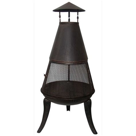 360 Degree Chiminea Steel Chiminea With 360 176 Surround The Garden Factory