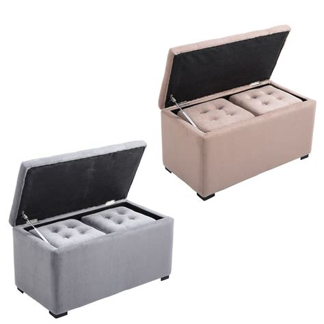 ottoman stool 3pcs nested storage ottoman bench set pouf tufted