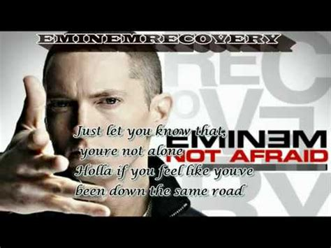 eminem lyrics not afraid eminem i m not afraid lyrics hq youtube