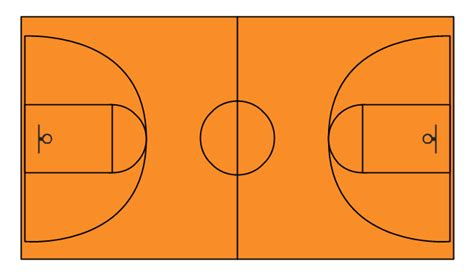 basketball courts vector stencils library