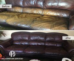 leather couch color restoration gallery before after pictures all furniture services 174