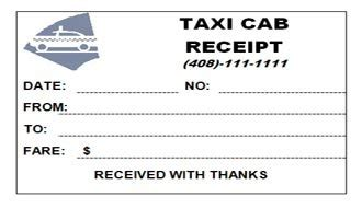 Atlanta Taxi Receipt Template by Taxi Cab Receipt Within Taxi Cab Receipt Yellow Cab Taxi