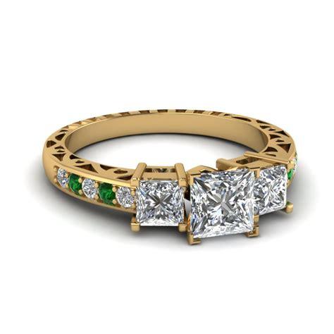 princess cut vintage engagement rings fascinating diamonds