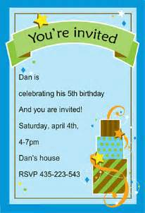 boy birthday invitation template boy birthday free printable birthday invitation