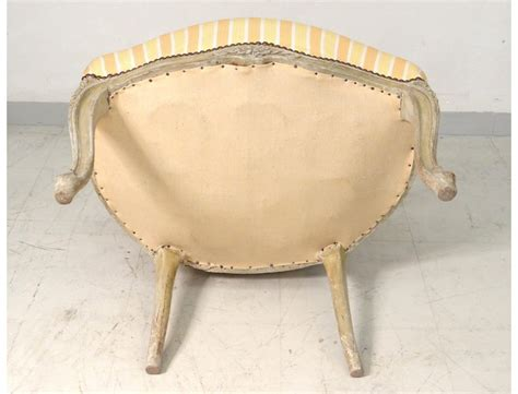 carved armchair armchair louis xv carved lacquered wood seat convertible