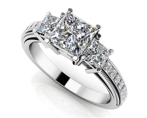 dazzling princess cut engagement ring roco s jewelry