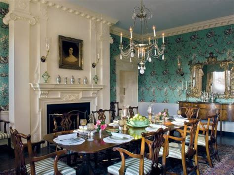 french country dining room  classic french wallpaper
