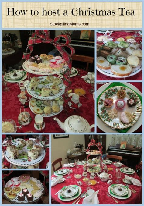 how to host a christmas tea