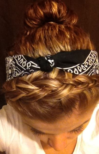 hip hop hairstyle gallery braid w bandana me pinterest braids bandanas and
