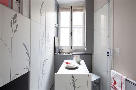 130 sq ft micro apartment in paris kitchen and bathroom kitoko studio fills tiny 8 sqm parisian apartment with