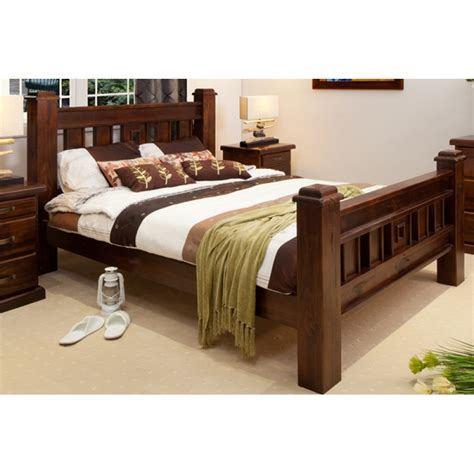 Best Brilliant Wooden Bed Frames Amazing Terra King Bed Rustic Panel Beds Cdi With Regard To Frame Attractive Awesome Size