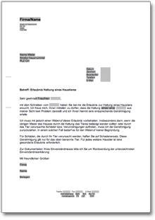 Musterbrief Einladung Botschaft Genehmigung Tierhaltung At Musterbrief