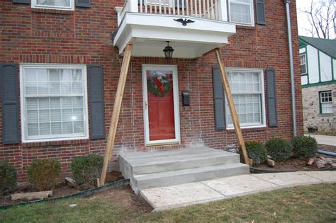 Replace Porch Post On Concrete Slab front porch post and slab replacement indianapolis