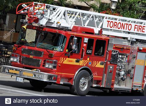 truck toronto toronto truck on downtown toronto stock photo