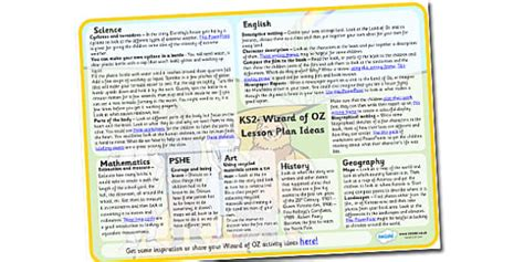 ks2 themes and conventions wizard of oz lesson plan ideas ks2 wizard of oz lesson plan