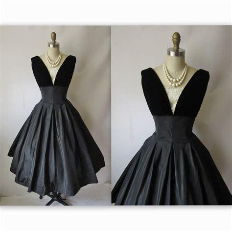 Clothing For Sale 50 S Cocktail Dress Vintage 1950 S Black Taffeta