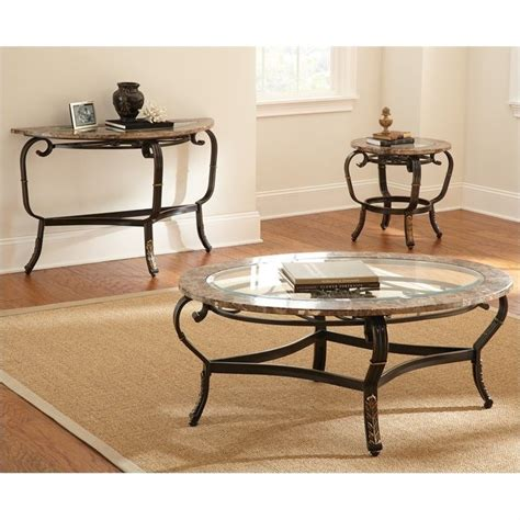 Steve Silver Coffee Tables Steve Silver Company Gallinari Brown Marble Coffee Table Gn300c