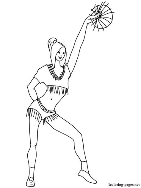 printable coloring pages cheerleaders cheerleading coloring page coloring pages
