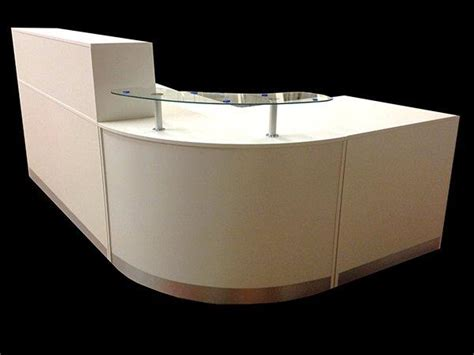 ref 0406 quality reception desk in white matt
