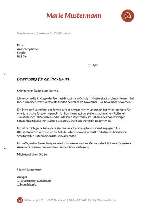 Einen Briefvorlage Drucke Selbst Kostenlose Musterbewerbungen F 252 R Sekret 228 Rin Praktikant Und Beruftseinsteiger